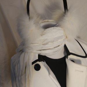 New with tags, genuine fox fur earmuffs.